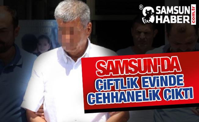 Samsun'da Çiftlik Evinde Cephane Çıktı
