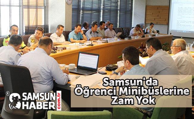 Samsun'da Öğrenci Minibüslerine Zam Yok