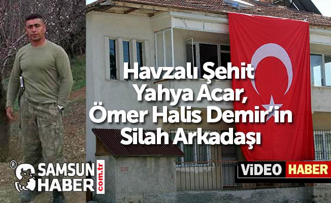 Samsunlu Şehit Yahya Acar, Şehit Halis Demir'in Silah Arkadaşı