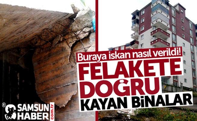 Samsun İlkadım'da zemini kayan binalara nasıl iskan verildi