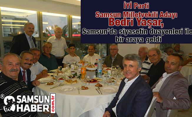 Bedri Yaşar, Samsun'da siyasetin duayenleri ile bir araya geldi
