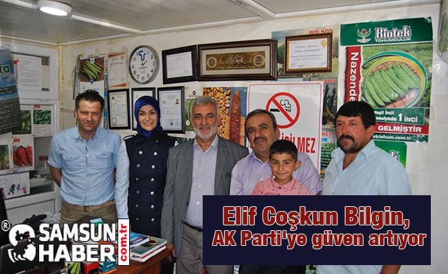 Elif Coşkun Bilgin, AK Parti'ye güven artıyor