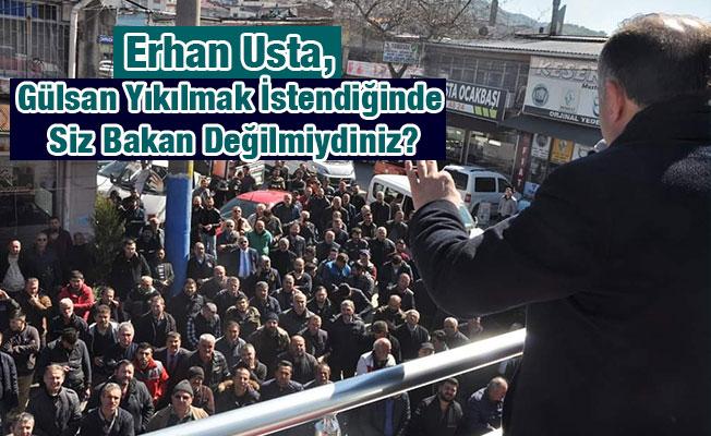 Erhan Usta, Gülsan Yıkılmak İstendiğinde Siz Bakan Değilmiydiniz