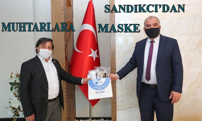 Canik Belediye Başkanı İbrahim Sandıkcı'dan Muhtarlara Maske