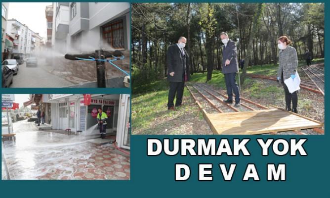 Canik Belediyesi çalışmalarını dört koldan sürdürüyor