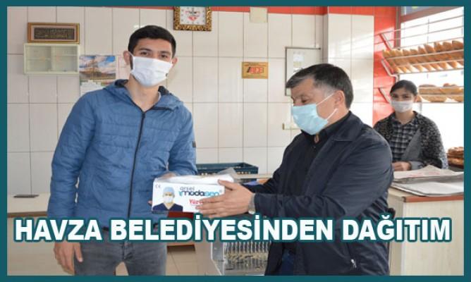 Havza Belediyesi Fırıncılara Maske Dağıtımı