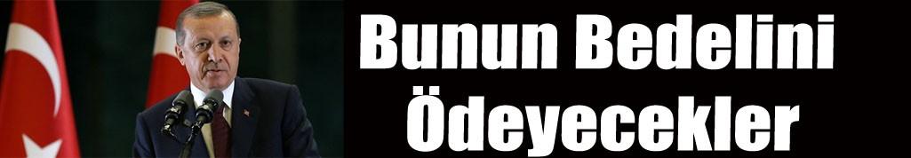 Cumhurbaşkanı Erdoğan: Bunun bedelini ödeyecekler