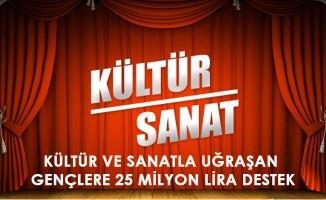 25 Milyon Lira Kültür ve Sanat Desteği Verilecek