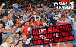 Altın Madalya Erkekler Voleybol Türk Milli Takımının