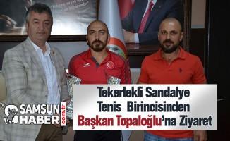 Tenis Milli Takım Sporcusu Murat Koltuk'tan Başkan Topaloğlu'na Ziyaret