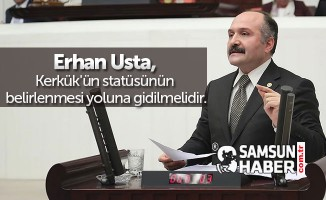 Erhan Usta, Kerkük'ün statüsünün belirlenmesi yoluna gidilmelidir.