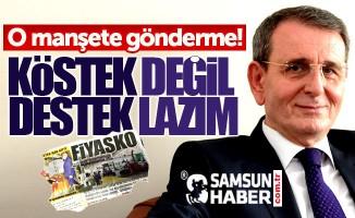 Samsun TSO Başkanı Murzioğlu'ndan Fiyasko manşetine gönderme