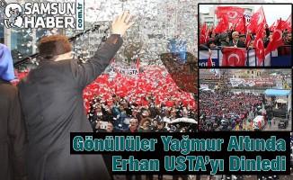 Erhan Usta Sevenlerini, Yağmur Durduramadı