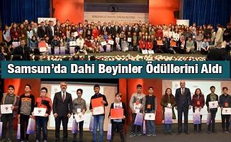 Samsun'da Dahi Beyinler Ödüllerini Aldı