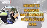 Hedefte Kasksız Motosiklet Sürücüleri Var