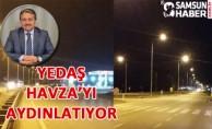 Havza'da 6 km'lik Aydınlatma Tesisi Tamamlandı
