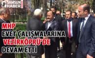 Milletvekili Erhan Usta ile MHP Samsun İl Başkanı Taner Tekin, Vezirköprüde