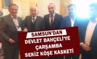 Samsun'dan Devlet Bahçeli'ye  Çarşamba sekiz köşe kasketi