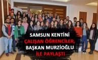 Samsun Kentini Çalışan Öğrenciler, Başkan Murzioğlu ile Paylaştı