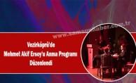 Vezirköprü'de Mehmet Akif Ersoy'u Anma Programı  Düzenlendi