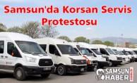 Samsun'da Korsan Servis Protestosu