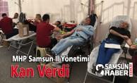 MHP Samsun İl Yönetimi Kan Verdi