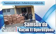 Samsun'da 3 Kamyon Kaçak Et Yakalandı