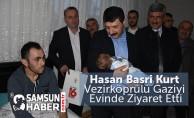 Hasan Basri Kurt Vezirköprülü Gaziyi Evinde Ziyaret Etti