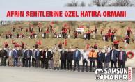 Havza MTAL'den Afrin Şehitlerine Özel Orman