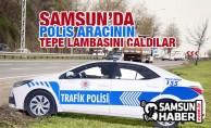 Samsun'da Polis Aracının Tepe Lambası Çalındı