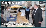 Canik Belediye Başkanı İbrahim Sandıkçı, Karşıyaka mahallesinde kurulan pazar yerinde