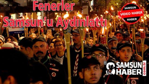 Fenerler Samsun'u Aydınlattı Video