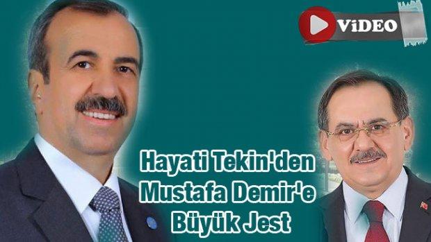 Hayati Tekin'den Mustafa Demir'e Büyük Jest- Video Haber