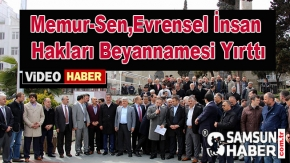 Evrensel İnsan Hakları Beyannamesi Samsun'da Yırtıldı