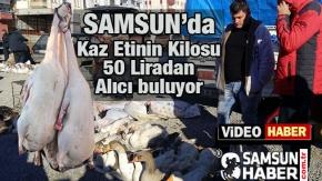 Kaz Etinin Kilosu 50 Liradan alıcı buluyor.