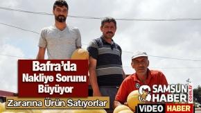 Bafra'da Sebze ve Meyve Üreticileri Sıkıntıda